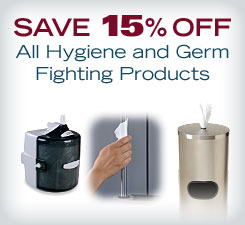 Save 15% off All Hygiene and Germ Fighting Products